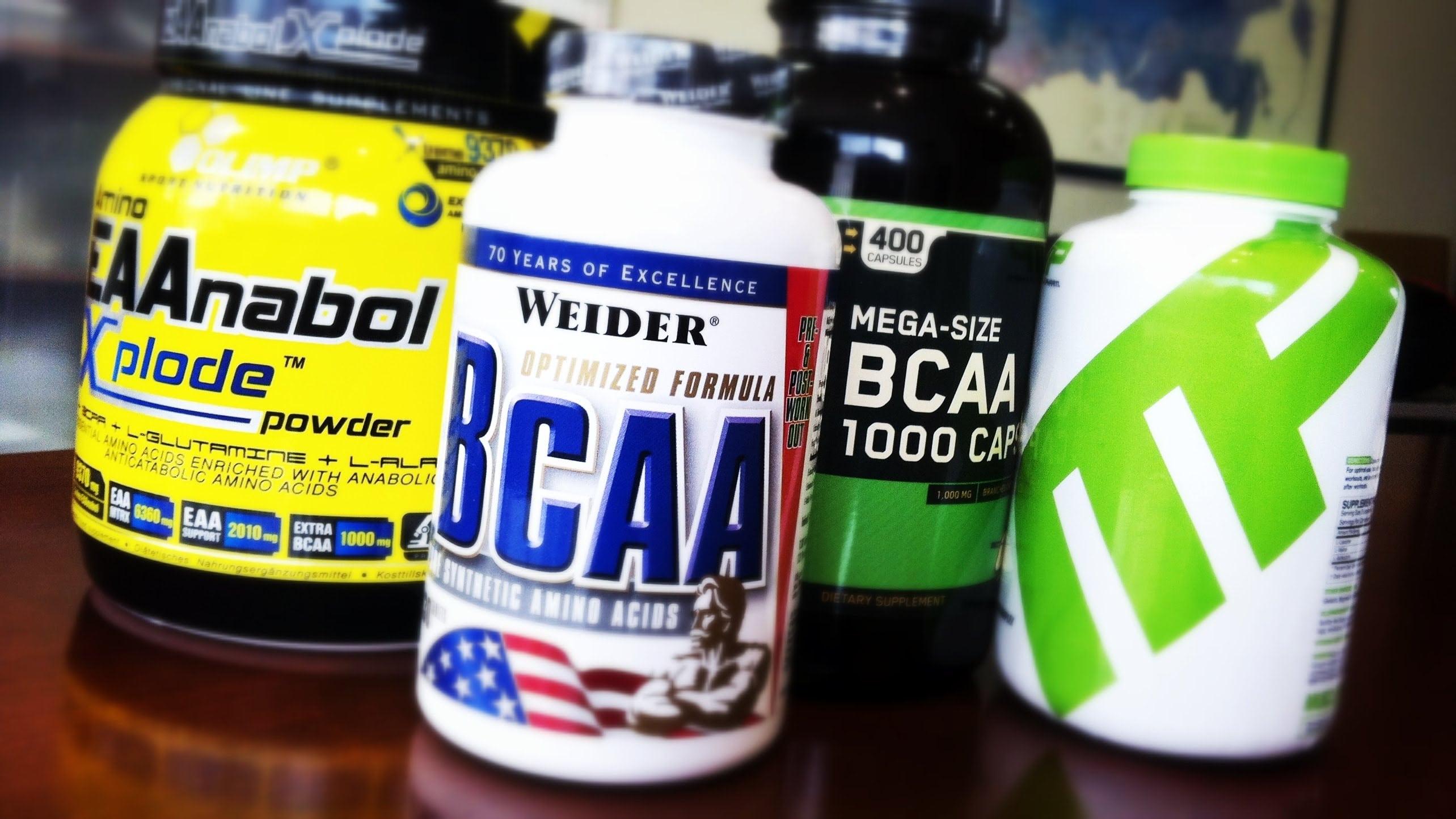 BCAA аминокислоты от разных производителей: Weider, Optimum Nutrition