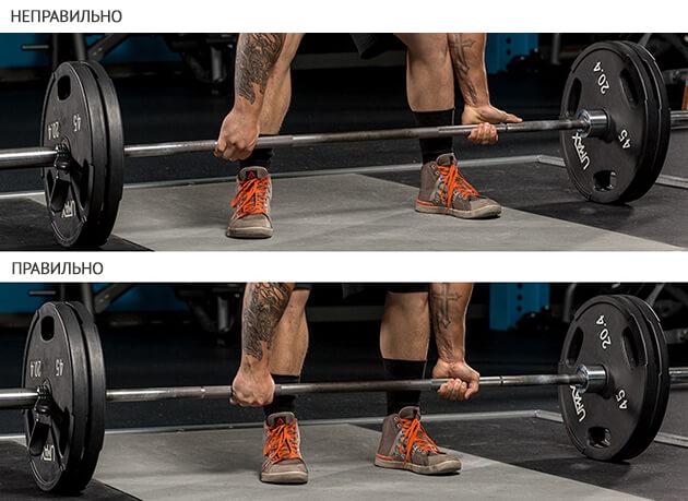 становая тяга - правильная постановка ног