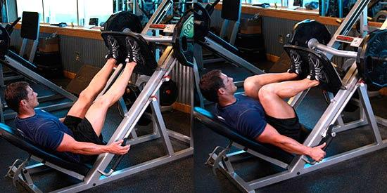 тренировка ног - Жим ногами