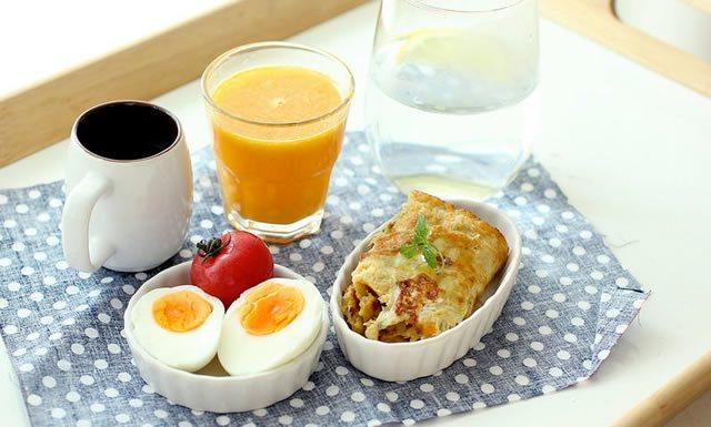 Полноценный завтрак здорового человека