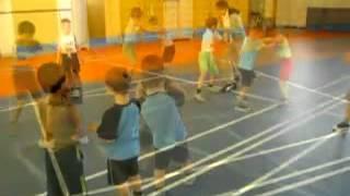 Тренировка по боксу с детьми 6-10 лет.