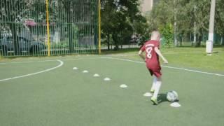 индивидуальная тренировка по футболу на технику( дети 8 - 9 лет)