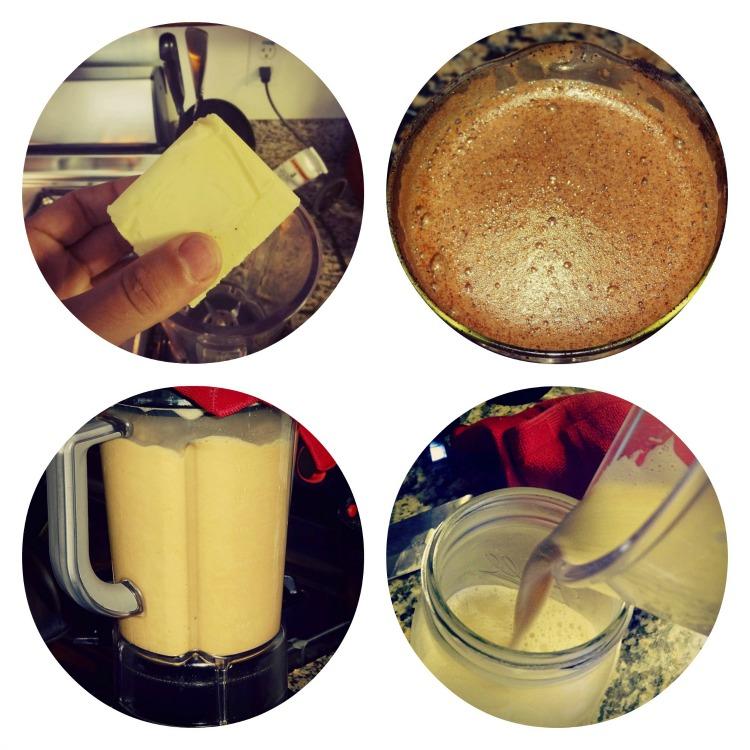 Энергетический напиток с маслом и кофе