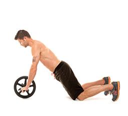 Пресс с гимнастическим роликом