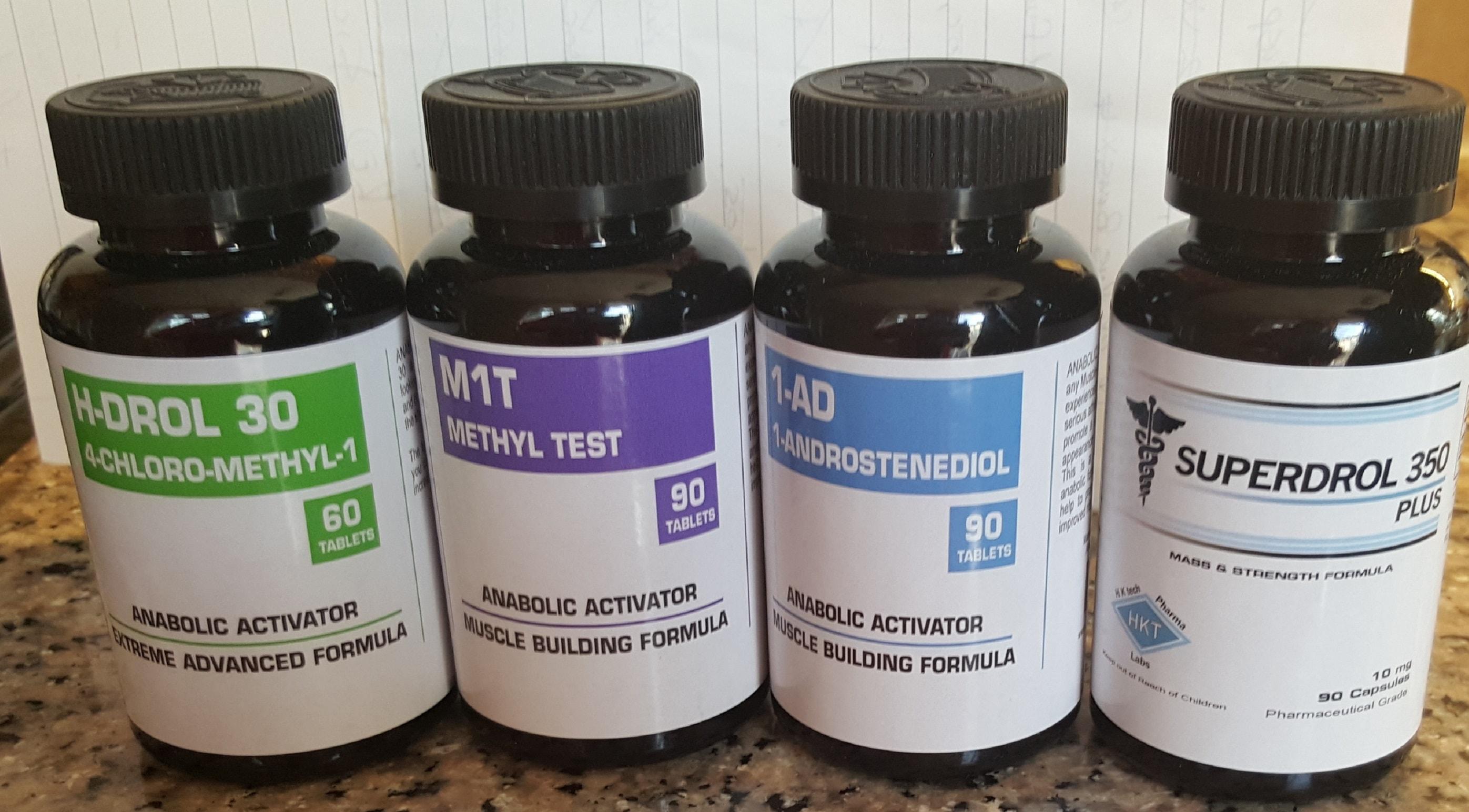 Прогормоны: H-DROL 30, M1T. 1-AD, SUPERDROL 350