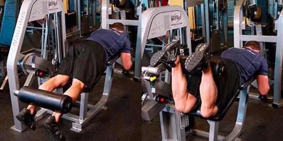 тренировка ног - Сгибания ног в тренажёре