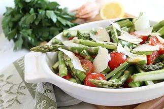 меню диеты для треугольника, салат из спаржи