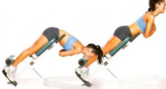техника выполнения упражнения Гиперэкстензия