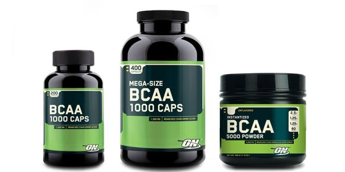 Препарат BCAA в капсулах и порошке