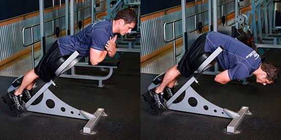 тренировка ног - Гиперэкстензия